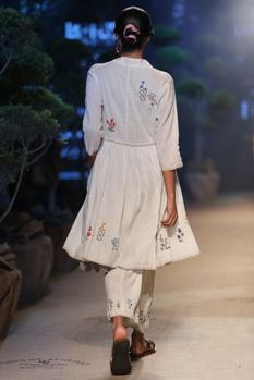Linen Embroidered Pants