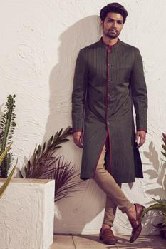 Printed Sherwani Set