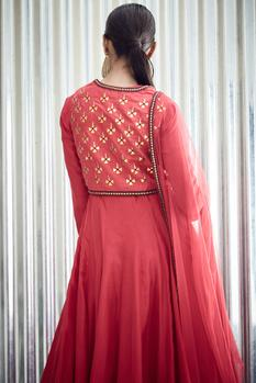 Silk Anarkali Set