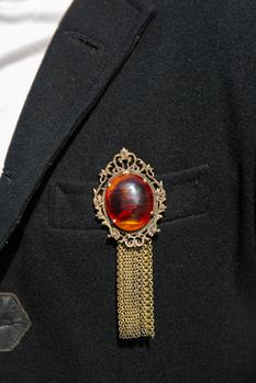 Antique Stone Brooch
