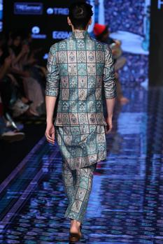 Printed Bundi Kurta Set