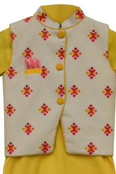 Cotton Silk Nehru Jacket Set