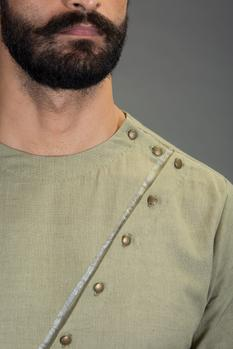 Cotton Linen Kurta Set
