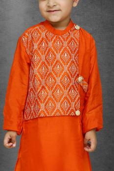 Silk Embroidered Kurta Set
