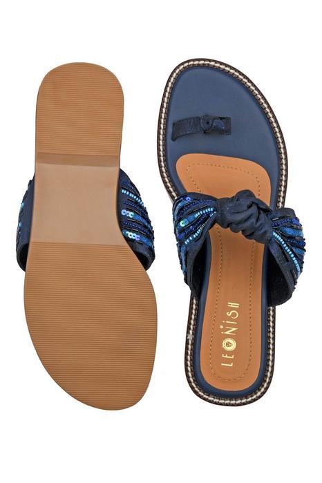Sequin Embellished Knotted Sandals