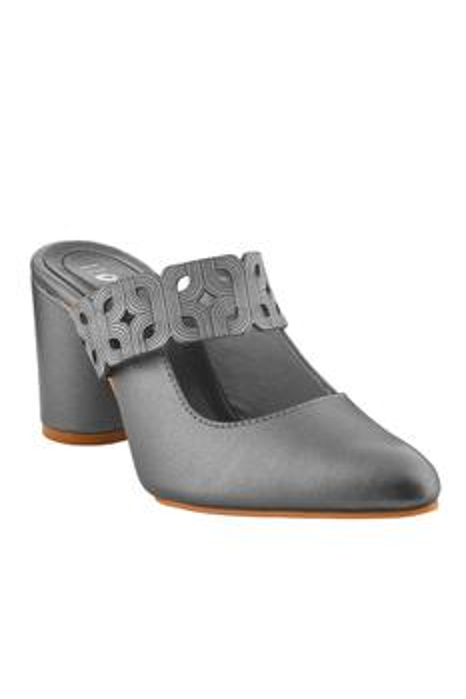 Laser Cut Pointed Toe Block Heels