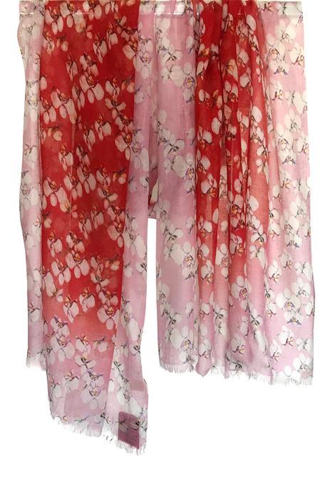 Silk Cashmere Floral Print Scarf
