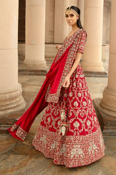 Silk Embroidered Lehenga Set