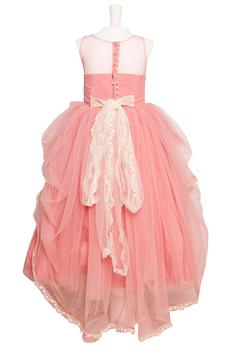 Pink tulle net ballon gown