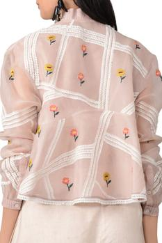 Champagne rose embroidered jacket
