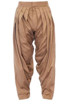 Antique gold cotton silk patiala pants