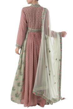 Hand Painted Anarkali with Dupatta