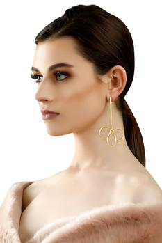 Gold plated intertwined earrings