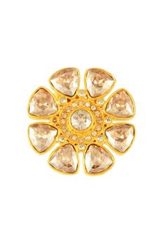 Gold plated Tarun Tahiliani stud earrings