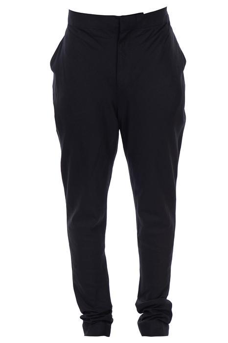 Black cotton linen jodhpuri pants