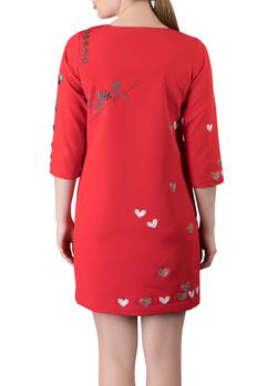 Applique Short Dress