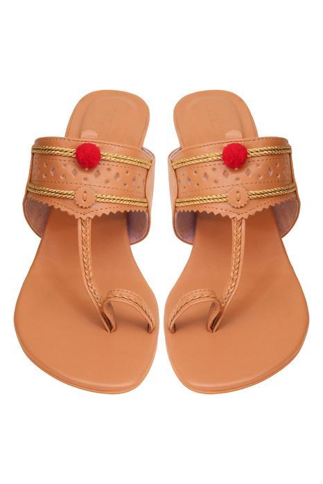 Pom pom kobian heel sandals