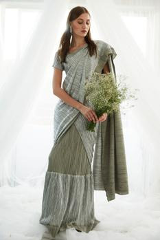 Pleated Saree Gown