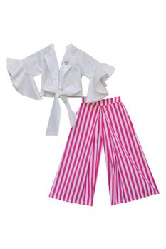 Striped top with palazzos
