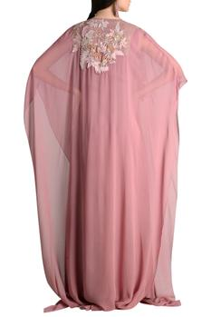 Embroidered kaftan gown