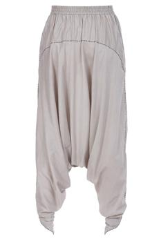 Draped cotton silk pants