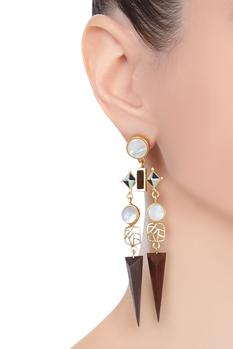 Handcrafted armory earrings