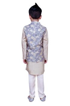 Kurta with printed jacket and pants
