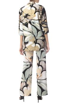 Floral Print Jacket With Pants