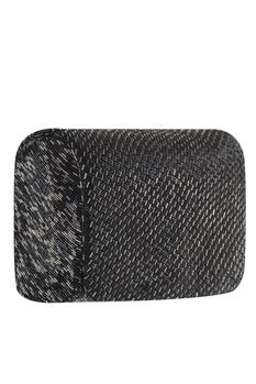 Bugle Bead Embroidered Flapover Clutch