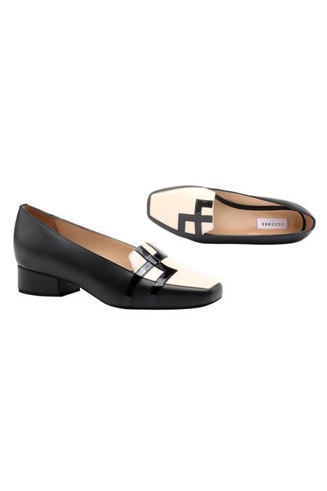 Anni Colorblock Block Heel Loafers