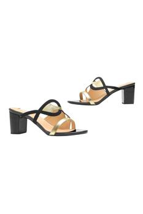Anya Open Toe Block Heels