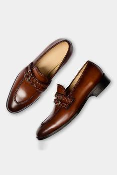 Hand Painted Double Monk Strap Loafers