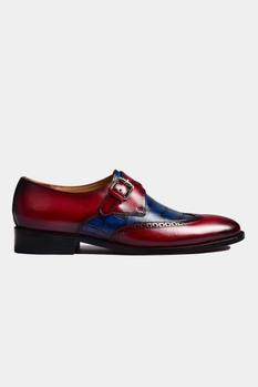 Hand Painted Single Monk Strap Shoes