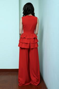 Flared Peplum Jumpsuit