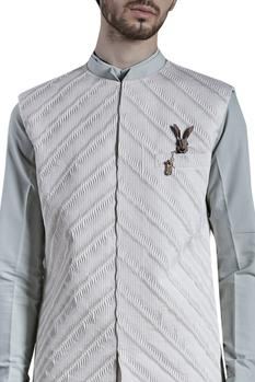 Pleated jacket with shirt