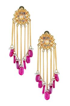 Floral Chain Danglers