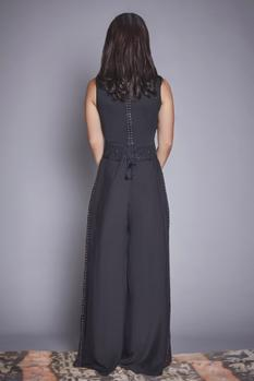 Embroidered Jumpsuit with Belt