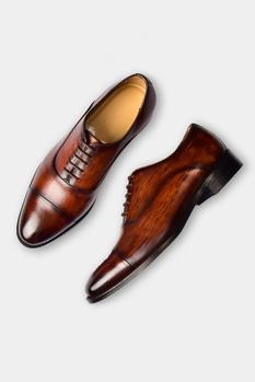 Hand Dyed Cap Toe Oxfords