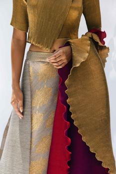 Pleated Lehenga Set