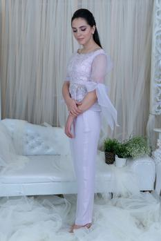 Embroidered Top & Pant Set