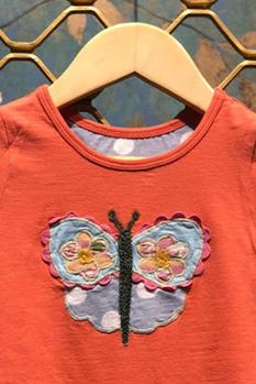 Butterfly Embroidered Romper