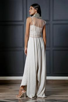 Draped Jumpsuit with Cape