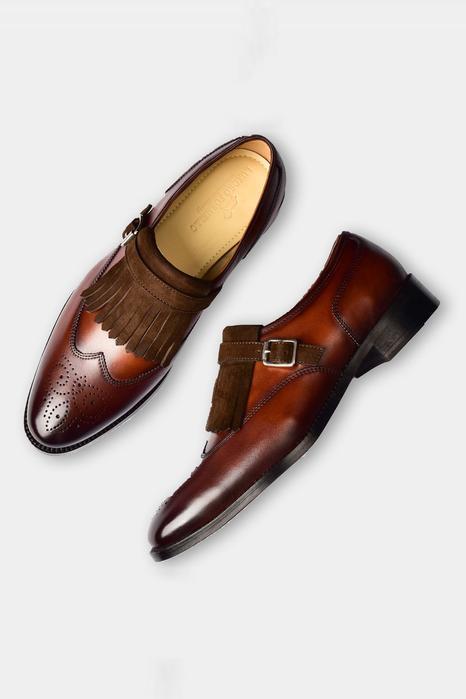 Single Monk Strap Kiltie Shoes
