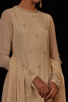 Embroidered Anarkali with Dupatta