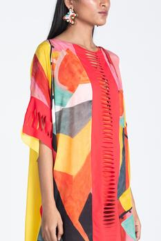 Asymmetric Printed Cover Up