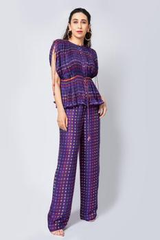 Pleated Top & Pant Set