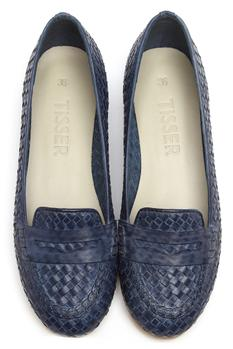 Textured Penny Loafers