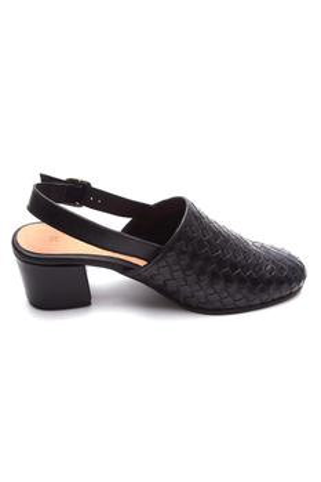 Ankle Strap Block Heel Mules