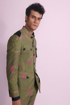 Printed Bandhgala with Trousers