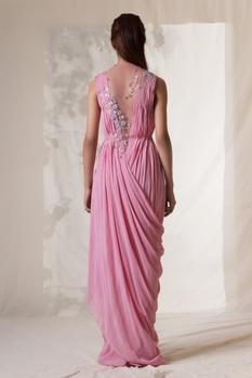 Pleated Draped Gown